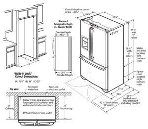 refrigerator dimensions guide